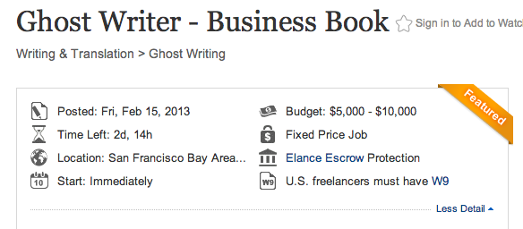 Ghost write a book