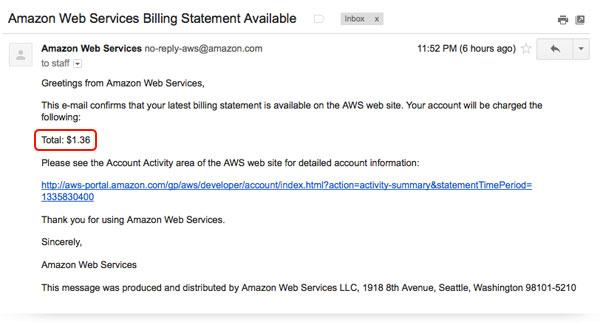 Amazon Bill
