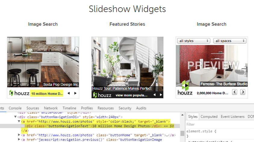 houzz-widgets
