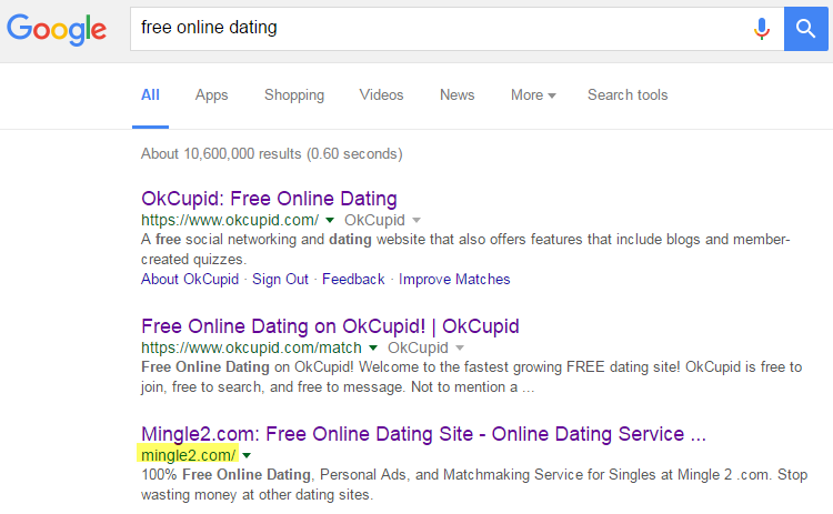Google free dating sites